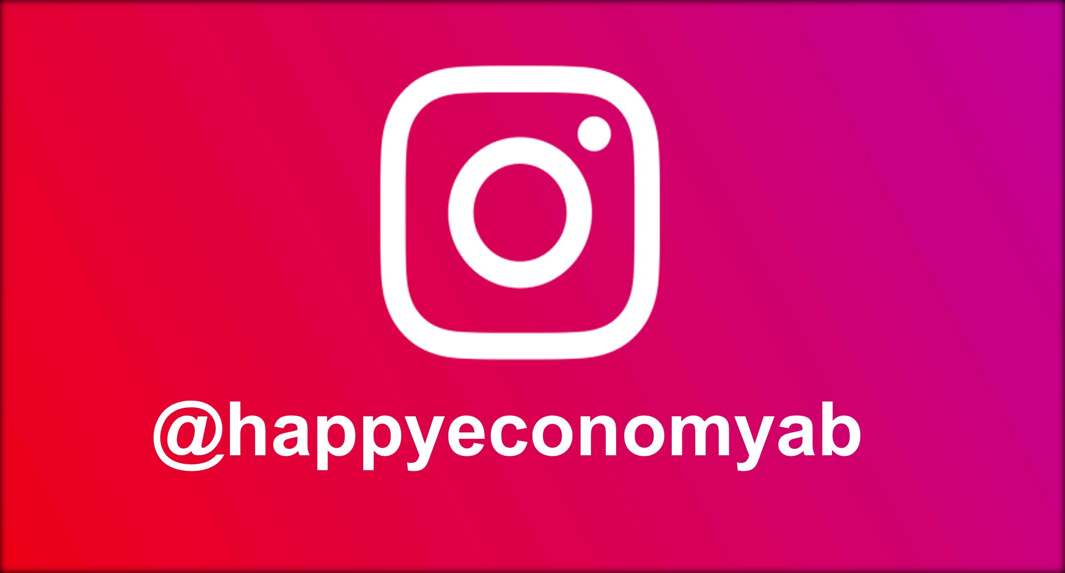 Nu finns Happy Economy på Instagram!