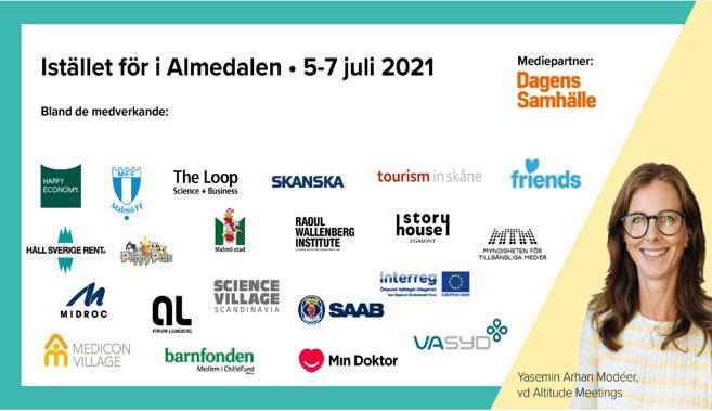 Vi är med #iställetförAlmedalen2021. SAVE THE DATE 6/7 10.00!